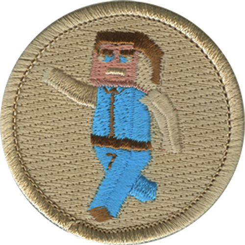 8-Bit Kid Scout Patrol Patch - embroidered 2 inch round