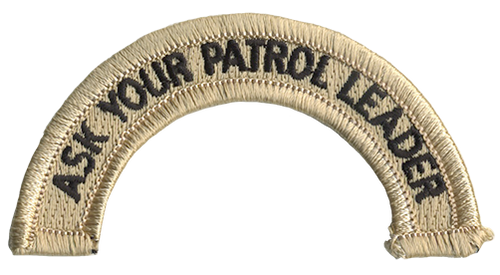 Ask Your Patrol Leader Rocker (Top)