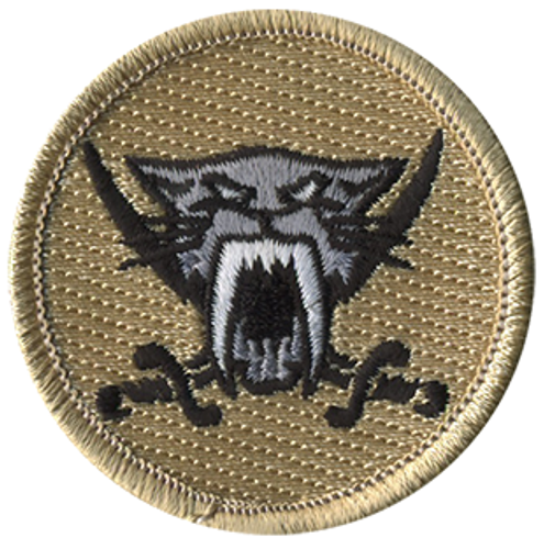 Dark Sabers Scout Patrol Patch - embroidered 2 inch round