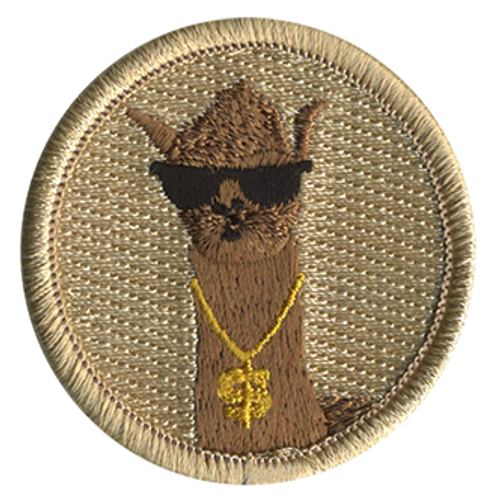 Legit Llama Scout Patrol Patch - embroidered 2 inch round