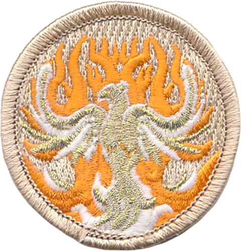 Glow Phoenix Scout Patrol Patch - embroidered 2 inch round