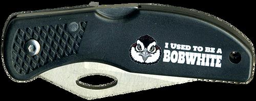 Wood Badge Lockback Knife of Wood Badge Bobwhite Critter - Front View