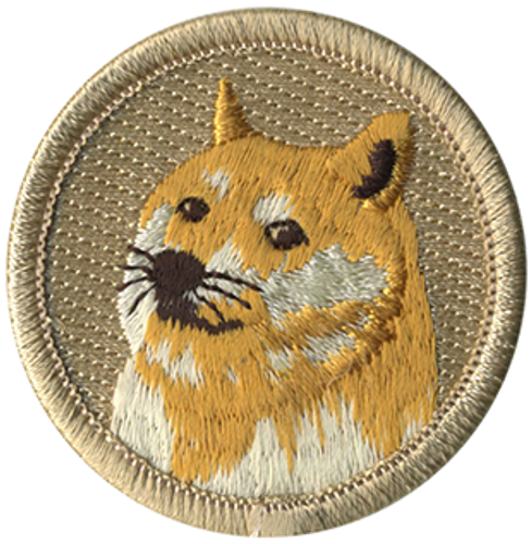 Doge Scout Patrol Patch - embroidered 2 inch round