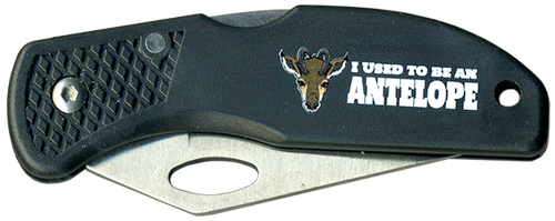 Wood Badge Lockback Knife of Wood Badge Antelope Critter - Front View