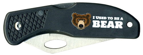 Wood Badge Lockback Knife of Wood Badge Bear Critter - Front View