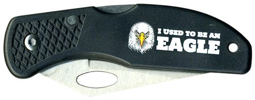 Wood Badge Lockback Knife of Wood Badge Eagle Critter - Front View