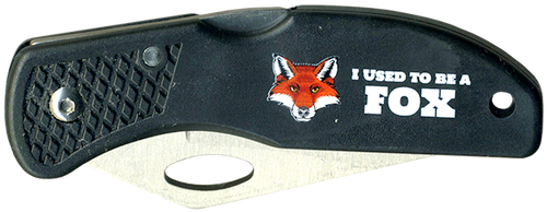 Wood Badge Lockback Knife of Wood Badge Fox Critter - Front View