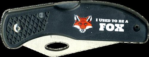 Wood Badge Lockback Knife of Wood Badge Fox Critter - Front View