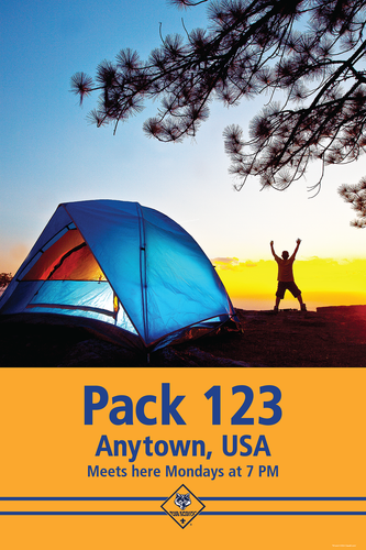 Custom Camping Cub Scout Pack Poster (SP4664)