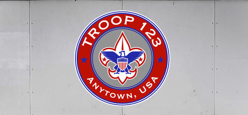 Scouts BSA Troop Trailer Graphic with BSA Corporate Logo
