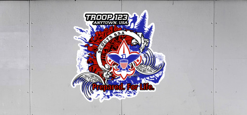 Custom Scouts BSA Troop Trailer Graphic Prepared. For Life. (SP6485)