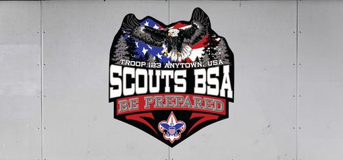 Custom Scouts BSA Troop Trailer Graphic Be Prepared (SP6486)