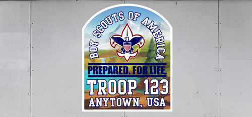 Custom Scouts BSA Troop Trailer Graphic Wooded Landscape (SP6487)