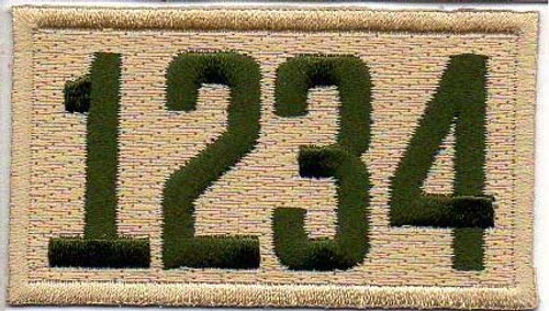 Four Number Scouts BSA Troop Unit Numeral Patch