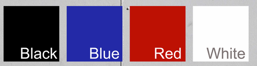 Available Trailer Graphic Color Swatches
