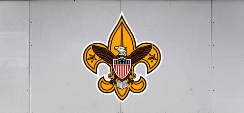 Scouts BSA Trailer Graphic With BSA Universal Logo