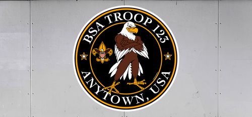 Custom Scouts BSA Troop Trailer Graphic Eagle Standing Tall (SP6536)