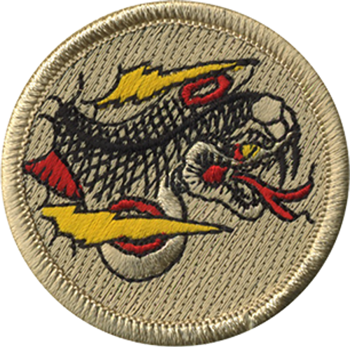 Lightning Cobra Scout Patrol Patch - embroidered 2 inch round