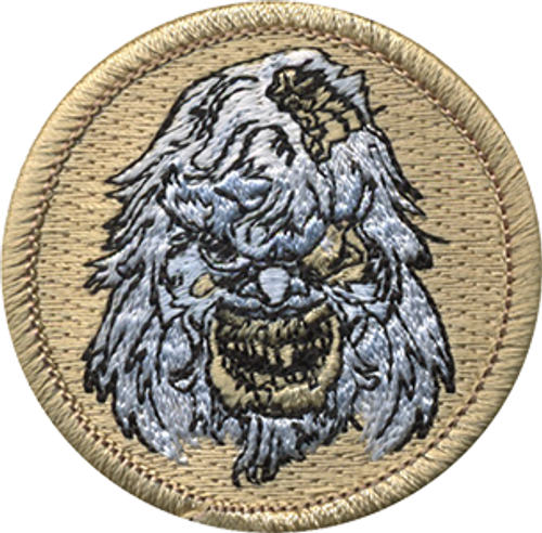 Zombie Yeti Scout Patrol Patch - embroidered 2 inch round