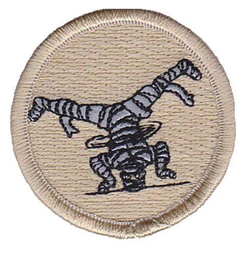 Dancing Mummy Scout Patrol Patch - embroidered 2 inch round