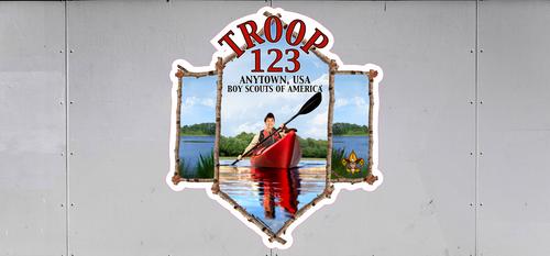Custom Scouts BSA Troop Trailer Graphic Kayaker (SP6545)