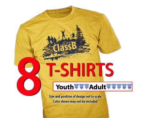wicking t-shirt size sample kit