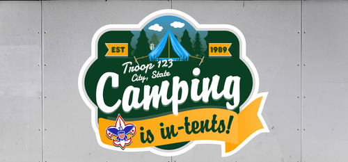 Custom Scouts BSA Troop Trailer Graphic Camping Is In-Tents (SP6627)