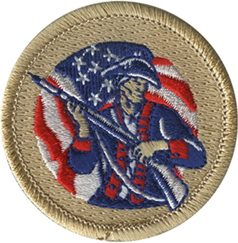 Sons of Liberty Scout Patrol Patch - embroidered 2 inch round