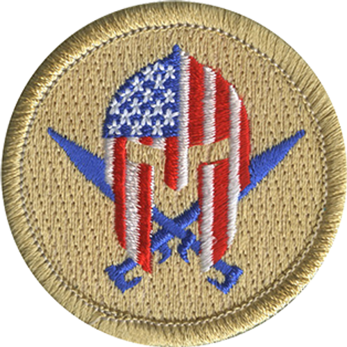 Patriot Warrior Scout Patrol Patch - embroidered 2 inch round