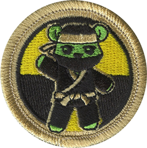 Radioactive Gummy Ninja Scout Patrol Patch - embroidered 2 inch round
