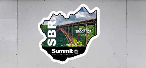 Custom Summit Bechtel Reserve Troop Trailer Graphic Bridge (SP6687)