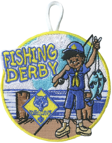 Cub Scout Pack Fishing Derby Patch with Cub Scout Logo Patch