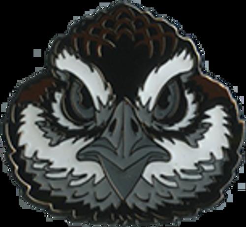 Wood Badge Pin of Wood Badge Bobwhite Critter Head - Front of Pin View