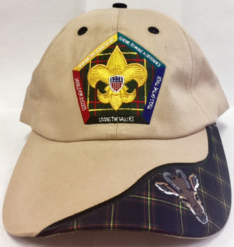 Wood Badge Hat with Wood Badge Logo and Wood Badge Antelope Critter - Front View