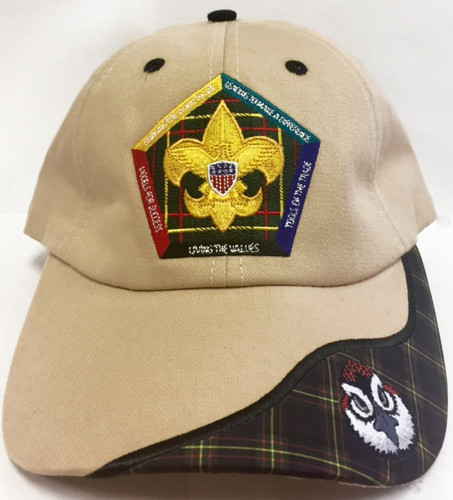 Wood Badge Hat with Wood Badge Logo and Wood Badge Bobwhite Critter - Front View