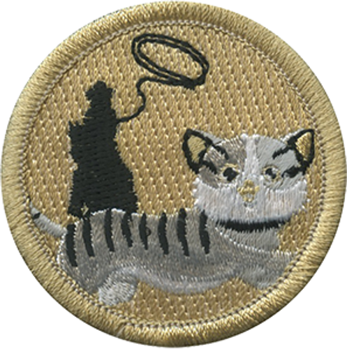 Cat Herder Scout Patrol Patch - embroidered 2 inch round
