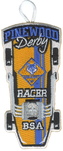 Pinewood Derby Cub Scout Racer Patch - Retro