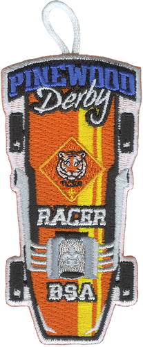 Pinewood Derby Tiger Racer Patch - Retro