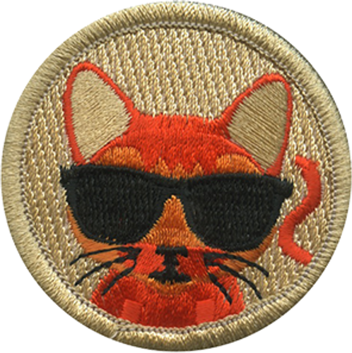 Cool Cat Scout Patrol Patch - embroidered 2 inch round
