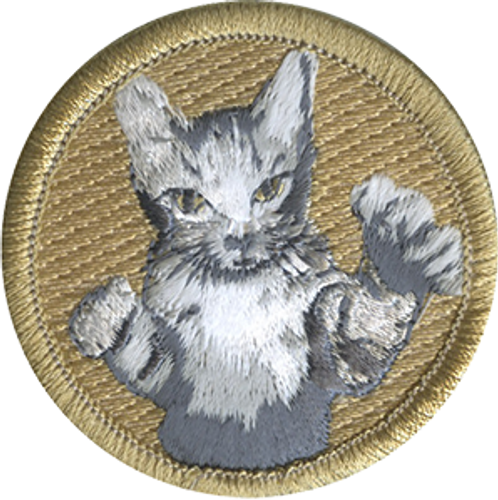 Bad Cat Scout Patrol Patch - embroidered 2 inch round Official Licensed