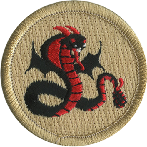 Flying Rattlesnake Scout Patrol Patch - embroidered 2 inch round