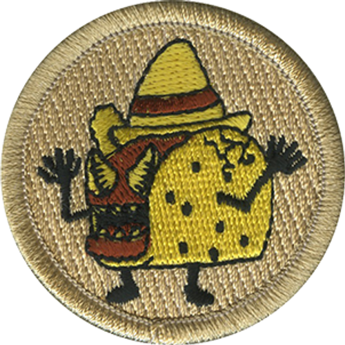 Raging Tacos Scout Patrol Patch - embroidered 2 inch round