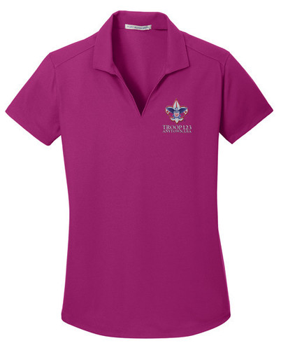 Dry Zone® Grid Ladies Wicking Polo with BSA Corporate Logo