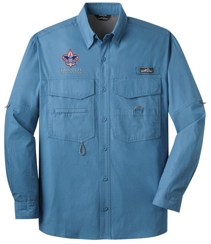 Scouts BSA Long Sleeve Fishing Shirt with BSA Corporate Logo
