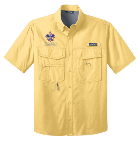Scouts BSA Short Sleeve Fishing Shirt with BSA Corporate Logo