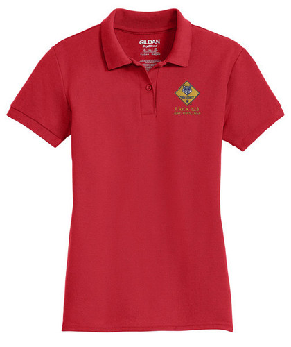 Cotton Pique Polo – Ladies with Cub Scout Logo