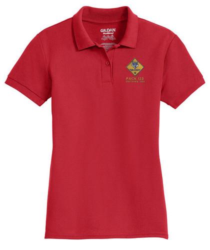 Cotton Pique Polo– Ladies with Cub Scout Logo