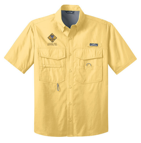 Cub Scout Pack Fishing Short Sleeve Shirt with Cub Scout Pack Logo