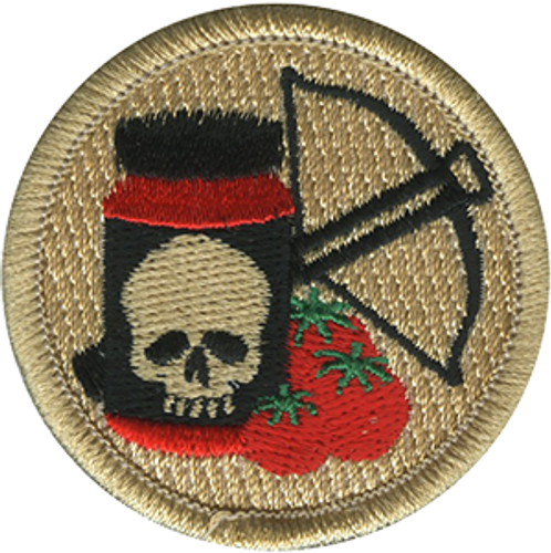 Deadly Spaghetti Sauce Scout Patrol Patch - embroidered 2 inch round