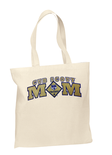 Cub Scout Pack Tote Bag With Cub Scout Mom Design